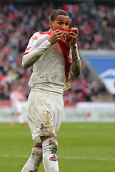 21.03.2015, RheinEnergieStadion, Köln, GER, 1. FBL, 1. FC Köln vs SV Werder Bremen, 26. Runde, im Bild Deyverson Brum Silva Acosta (1. FC Koeln #20) // during the German Bundesliga 26th round match between 1. FC Cologne and SV Werder Bremen at the RheinEnergieStadion in Köln, Germany on 2015/03/21. EXPA Pictures © 2015, PhotoCredit: EXPA/ Eibner-Pressefoto/ Schüler<br /> <br /> *****ATTENTION - OUT of GER*****