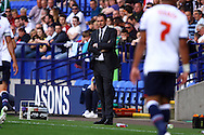 Derby County Head Coach Paul Clement looks on. Skybet football league championship match, Bolton Wanderers v Derby County at the Macron stadium in Bolton, Lancs on Saturday 8th August 2015.<br /> pic by Chris Stading, Andrew Orchard sports photography.