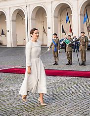 Danish Crown Prince couple visit to Rome - 06 Nov 2018
