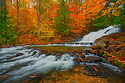 The Skeleton River at Hatchery Falls in autumn<br />Rosseau<br />Ontario<br />Canada