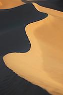 Sahara desert sand dunes at Erg Lihoudi, Morocco.