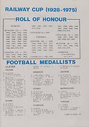 Interprovincial Railway Cup Football Cup Final, 17.03.1977, 03.17.1977, 17th March 1977, referee S Murray,  Connacht 1-09, Munster 1-14, .Interprovincial Railway Cup Hurling Cup Final,  17.03.1976, 03.17.1976, 17th March 1976, referee G Kirwan, Munster 1-13, Leinster 2-17,