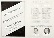 All Ireland Senior Hurling Championship Final,.01.09.1957, 09.01.1957, 1st September 1957,.Minor Kilkenny v Tipperary, .Senior Kilkenny v Waterford, Kilkenny 4-10.Waterford 3-12,..Advertisement, Irish Steel Holdings Limited,..Kilkenny,  Barry,  Moran,  O'Donnell,  Hickey,  O'Brien,  Carroll,  Hanrahan,  McCarthy,  Comerford,  Maher,  Walsh, Keher,  Bowe, Lannon, Dunne, Lennon, O'Connell,  Morrissey, Harrington, Leahy,..Tipperary,  Moloney, Craddock,  Lonergan,  Kearns,  Croke,  Reynolds,  Stapleton,  Murpjy,  Kelly,  Ryan, Doyle, Kennedy, Doyle, Hogan, Butler, Woodlock,  O'Brien,  Ryan,  Hogan, Kiely,