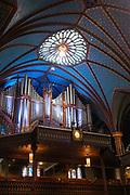 Interior view of the Basicila of Notre Dame, Montreal, Quebec, Canada.