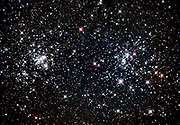 The Double cluster (NGC 884 and NGC 869) in the constellation Perseus.