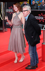 """Edinburgh International Film Festival, Sunday 26th June 2016<br /> <br /> Stars turn up on the closing night gala red carpet for the World Premiere of """"Whisky Galore!""""  at the Edinburgh International Film Festival 2016<br /> <br /> Fenella Woolgar who plays Dolly in the film with John Sessions<br /> <br /> (c) Alex Todd 