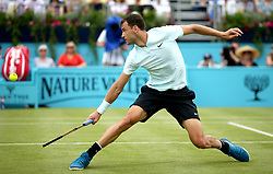 Bulgaria's Grigor Dimitrov during day two of the Fever-Tree Championship at the Queens Club, London.