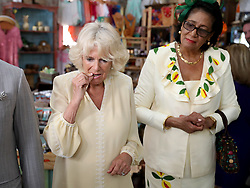 The Duchess of Cornwall visits the House of Chocolate during a one day visit to the Caribbean island of Grenada.