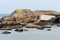 Norway, Solastranden Beach. Rocks.