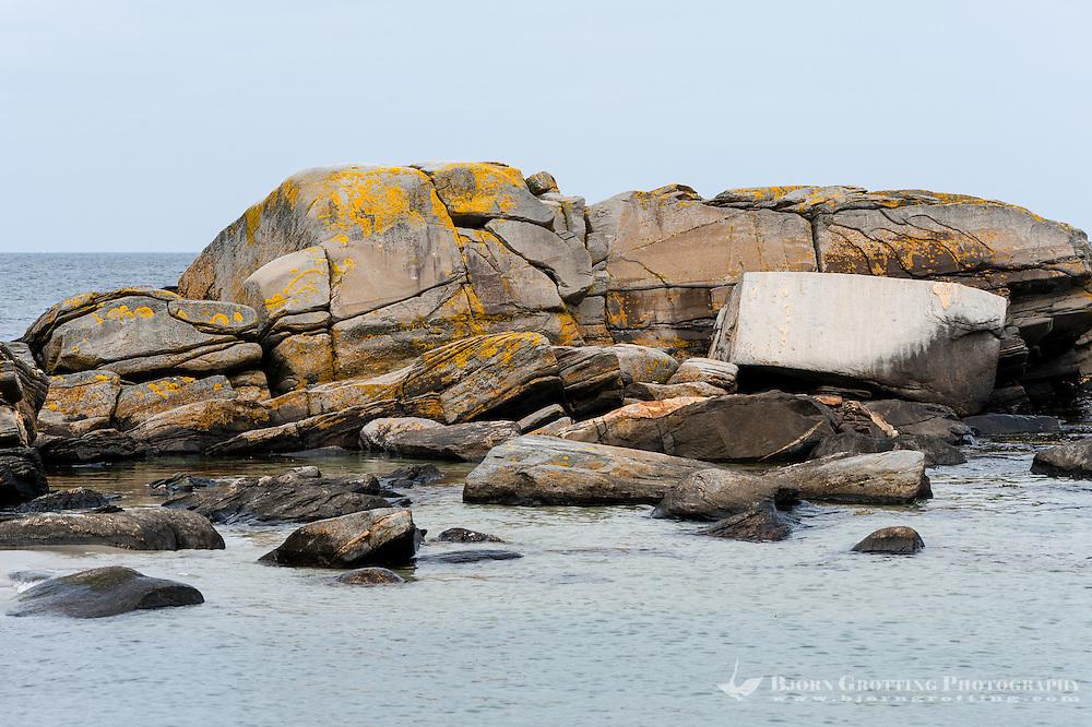 Norway, Solastranden Beach. Rocks.