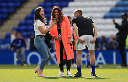 Leicester City's Jamie Vardy and Rebekah Vardy during the Premier League match at the King Power Stadium, Leicester.