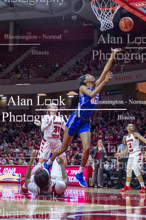 NORMAL, IL - December 20: Brooke Flowers during a college women's basketball game between the ISU Redbirds and the St. Louis Billikens on December 20 2018 at Redbird Arena in Normal, IL. (Photo by Alan Look)