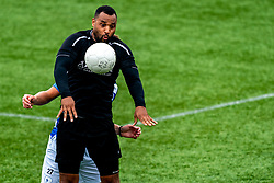 Eddy Vorm of VV Maarssen in action. First friendly match after the Corona outbreak. VV Maarssen lost the away match against big league Spakenburg 5-1 on 4 July 2020 in Spakenburg.