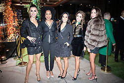 © Licensed to London News Pictures . 23/11/2018. Manchester , UK . Coronation Street actor Brooke Vincent (r) and Cheshire Housewives arrive at an opening event of The Ivy restaurant and bar venue in Spinningfields in Manchester City Centre . Photo credit : Joel Goodman/LNP