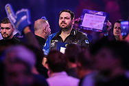 Adrian Lewis during the walk-on during the World Darts Championships 2018 at Alexandra Palace, London, United Kingdom on 27 December 2018.