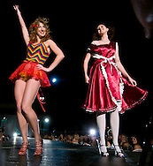 Omaha, NEB 9/19/09.Two models wearing Laci Neal designed pieces put on a little performance for the crowd as they switched pieces of their garments...Chris Machian/The World-Herald