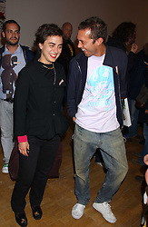 CHIARA BERSI SERLINI and VISCOUNT MACMILLAN at an opening party for artist Paul McCarthy's exhibition 'LaLa Land Parody Paradise' held at the Whitechapel Gallery, 80-82 Whitechapel High Street, London E1 on 22nd October 2005.<br /><br />NON EXCLUSIVE - WORLD RIGHTS