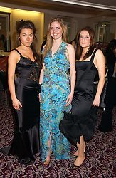 Left to right, debutantes SOPHIE VAN HAEFTEN, KATIE READMAN and HARRIET ZIEGLER at a ball in aid of the English National Ballet featuring debutantes rom the forthcoming season held at The park Lane Hotel, Piccadilly, London on 16th March 2006.<br /><br />NON EXCLUSIVE - WORLD RIGHTS