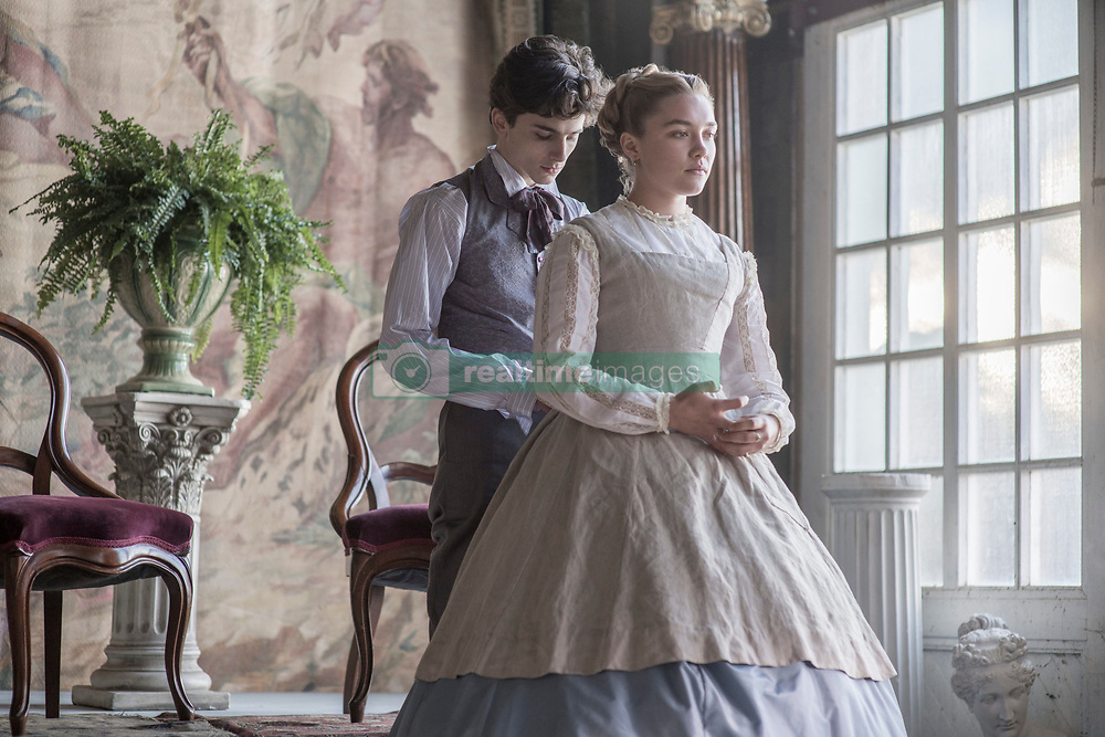 RELEASE DATE: December 25, 2019 TITLE: Little Women STUDIO: Columbia Pictures DIRECTOR: Greta Gerwig PLOT: Four sisters come of age in America in the aftermath of the Civil War STARRING: TIMOTHEE CHALAMET as Theodore 'Laurie' Laurence, FLORENCE PUGH as Amy March. (Credit Image: © Columbia Pictures/Entertainment Pictures/ZUMAPRESS.com)