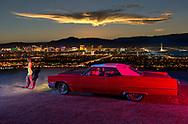 American Dreamscapes Viva Las Vegas, caddy, night, skyline, Nevada, noir