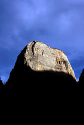 UT: Utah; Zion National Park, Great White Throne  .Photo Copyright: Lee Foster, lee@fostertravel.com, www.fostertravel.com, (510) 549-2202.Image: utzion204