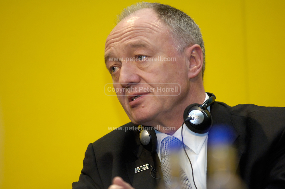 Ken Livingstone, Mayor of London, at the official launch of London hosting the Prologue and Stage One of the 2007 Tour de France held at the Queen Elizabeth 2 Conference Centre on Thursday 9th February 2006.