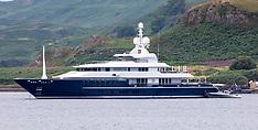 Alexander Abramov & superyacht, Oban, 5 August 2021