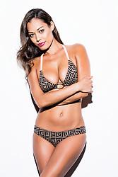 Woman Wearing Bikini with Arms Crossed