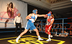 OLLIE SLACK (blue shorts) and JAMES MATHIAS (red shorts) at the 2008 Boodles Boxing Ball in aid of the charity Starlight held at the Royal Lancaster Hotel, London on 7th June 2008.<br /> <br /> NON EXCLUSIVE - WORLD RIGHTS