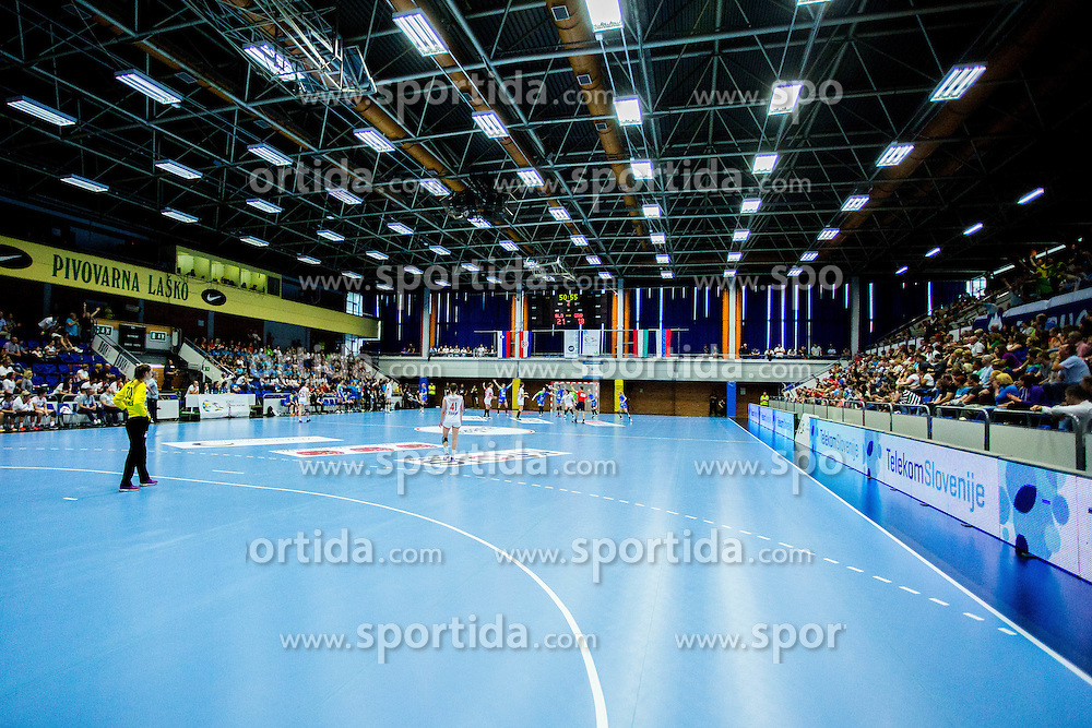 Dvorana Golovec during handball match between Women national teams of Slovenia and Croatia in Round #5 of Qualifications for Women's EHF EURO 2016 Championship in Sweden, on June 1, 2016 in Arena Golovec, Celje, Slovenia. Photo by Ziga Zupan / Sportida