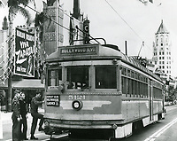 1952 Streetcar in front of the Chinese Theater