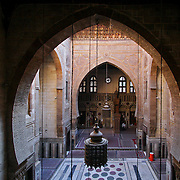 Arabic arch in Mosque-Madrassa of Al-Ghouri, Cairo, Egypt (January 2008)