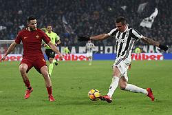 December 23, 2017 - Turin, Italy - Juventus forward Mario Mandzukic (17) in action during the Serie A football match n.18 JUVENTUS - ROMA on 23/12/2017 at the Allianz Stadium in Turin, Italy. (Credit Image: © Matteo Bottanelli/NurPhoto via ZUMA Press)
