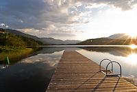 Sunrise over Alta Lake in Whistler, BC Canada