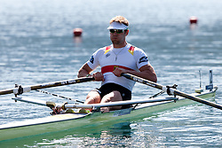 Marcel Hacker of Germany during Men's Single Sculls at Rowing World Championships Bled 2011 on August 28, 2011, in Bled, Slovenia. (Photo by Matic Klansek Velej / Sportida)