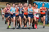 New York, New York  - Runners compete in the Ivy League Heptagonal men's<br /> cross country championship meet at Van Cortlandt Park in the Bronx on Oct. 26, 2017.