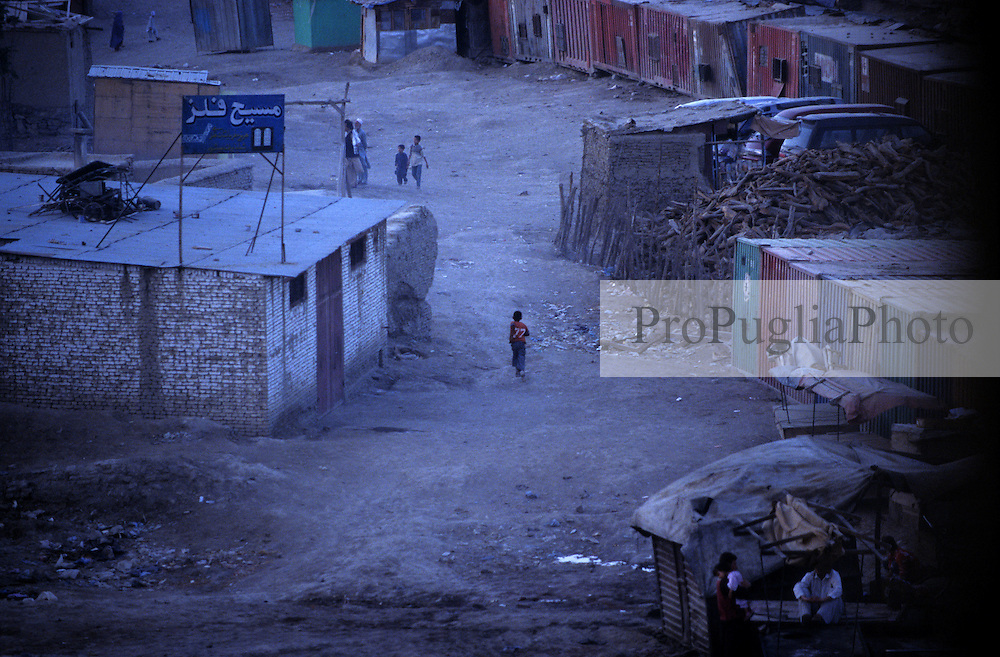 KABUL, children running in the outskirt of the capital.