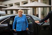 Berlin, 27.09.2021: Bundeskanzlerin Dr. Angela Merkel (CDU) trifft zum St. Michael-Jahresempfang ein.