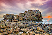 Arch Rock Corona Del Mar at Sunset in Orange County California