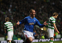 Football - Scottish Premier League - Celtic vs Rangers<br /> <br /> Rangers Kenny Miller  celebrates out jumping Mark Wilson to head into the net and bring Rangers level 1-1-