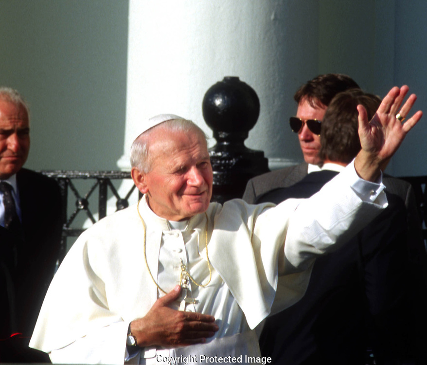 A 28. MG IMAGE OF:..Pope John Paul II in Miami, Florida September 10, 1987  Photo by Dennis Brack