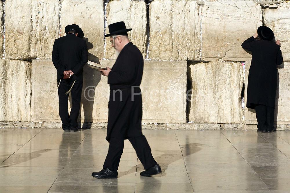 Religious Jews praying at the Western ('Wailing') Wall, Jerusalem, Israel