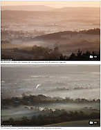 Sunrise over the South Downs National Park and Petersfield