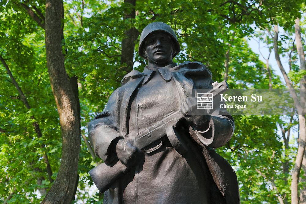 Statue of a Soviet era soldier, Nesvizh, Minsk Province, Belarus