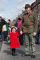Catherine Moore and her dad Dermot Moore enjoying the Easter Monday 1916 commemorations<br />Pic:Mark Condren<br />28.3.2016