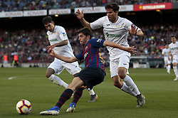 May 12, 2019 - Barcelona, Spain - Sergi Roberto during the match between FC Barcelona angd Getafe, corresponding to the round 37 of the Liga Santander, played at the Camp Nou Stadium, on 12th May 2019, in Barcelona, Spain. (Credit Image: © Joan Valls/NurPhoto via ZUMA Press)