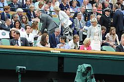 July 14, 2018 - Angleterre - Wimbledon - Arrivee de Maghane Markle Duchesse de Sussex et de Kate Middleton Duchesse de Cambrigde Angleterre dans la loge royale (Credit Image: © Panoramic via ZUMA Press)