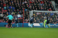 Football - 2016 / 2017 Premier League - Southampton vs. Middlesbrough<br /> <br /> Southampton's Sofiane Boufal fires Southampton in to the lead at St Mary's Stadium Southampton England<br /> <br /> COLORSPORT/SHAUN BOGGUST