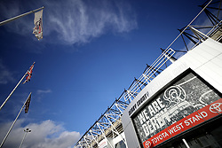 A general view of Pride Park before kick-off