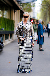 Street style, blogger Julia Kuczynska (Maffashion) arriving at Balmain Spring Summer 2017 show held at Hotel Potocki, in Paris, France, on September 29, 2016. Photo by Marie-Paola Bertrand-Hillion/ABACAPRESS.COM